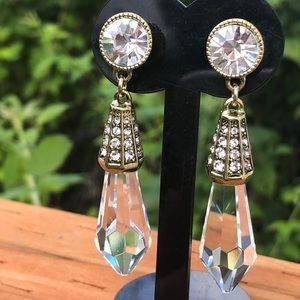 Heidi Daus Crystal Chandelier drop earrings NWT